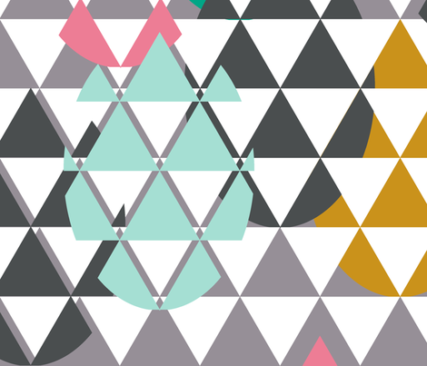 Drop eggs triangles  fabric by katarina on Spoonflower - custom fabric