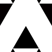  triangles black and white arrows fabric
