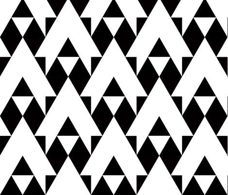 triangles black and white arrows fabric fabric by katarina on Spoonflower - custom fabric