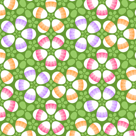 S43 X eggs zigzag fabric by sef on Spoonflower - custom fabric