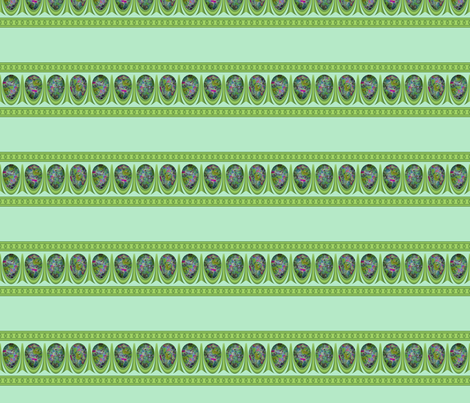Painted_Egg_&_Dart_Stripe 2 fabric by fireflower on Spoonflower - custom fabric