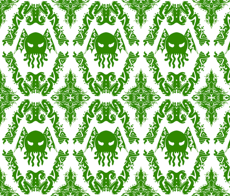cthulhu damask fabric by vanity_games on Spoonflower - custom fabric