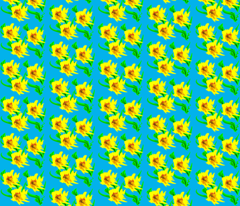 FlowersYY fabric by retroretro on Spoonflower - custom fabric