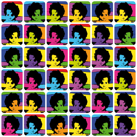 Popart Dollfaces fabric by gazeofdolls on Spoonflower - custom fabric