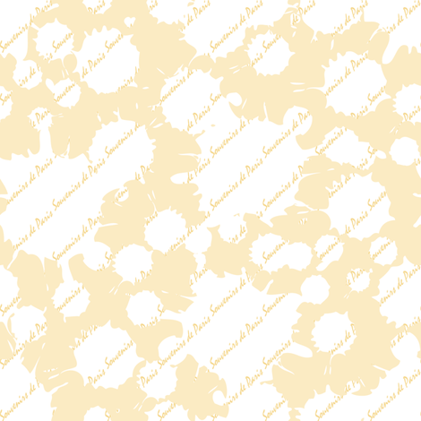 Coordinate Souvenirs de Paris (Buttercup) fabric by vannina on Spoonflower - custom fabric