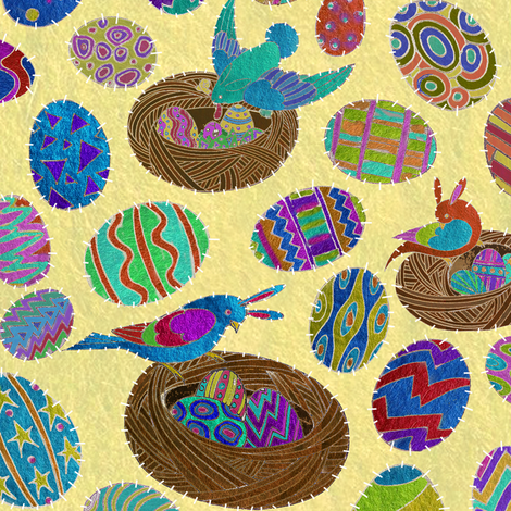 The Birds of Easter Island fabric by ceanirminger on Spoonflower - custom fabric
