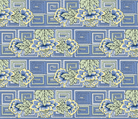 meander_blossom China fabric by kerrysteele on Spoonflower - custom fabric
