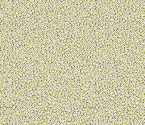 Ditsy Green for Art Nouveau Eggs fabric by miart on Spoonflower - custom fabric