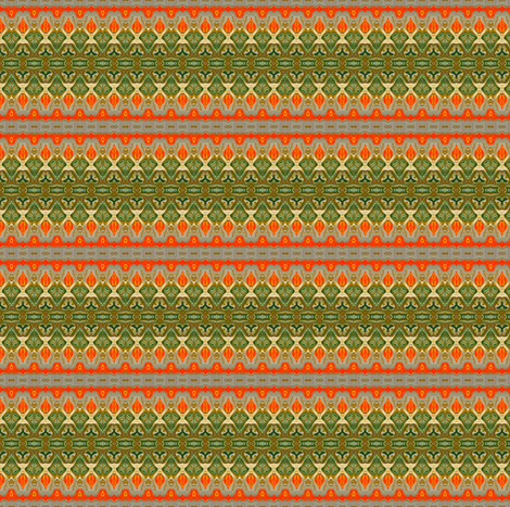 Tangerine Trim fabric by elarnia on Spoonflower - custom fabric