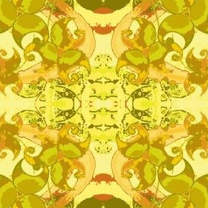Dancing Leaves-yellow/pear green