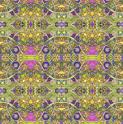 Casual Country Gardens fabric by edsel2084 on Spoonflower - custom fabric