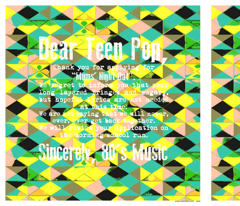 dear teen pop cushion panel 18inches x 18 inches