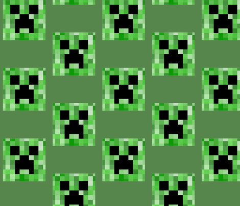CreeperFace Checkerboard-green