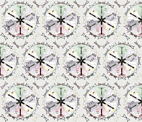 geek dress code mandala - pale fabric by glimmericks on Spoonflower - custom fabric