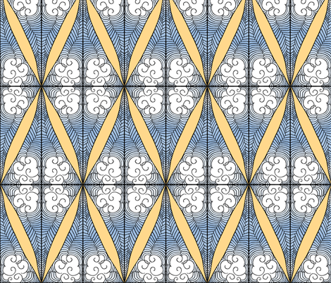 Partly Cloudy fabric by pond_ripple on Spoonflower - custom fabric