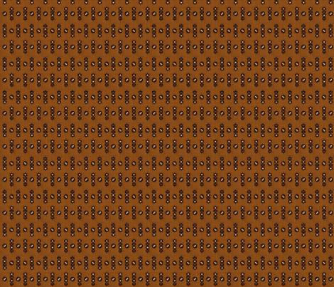 1838 Black & Brown Geometric fabric by the_cornish_crone on Spoonflower - custom fabric