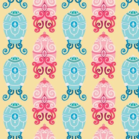 Fabergé Easter Eggs fabric by jila on Spoonflower - custom fabric