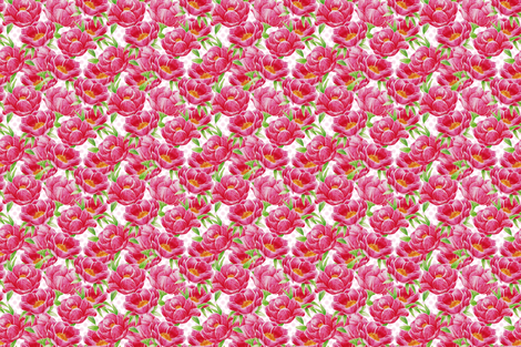 Peonies fabric by cassiopee on Spoonflower - custom fabric
