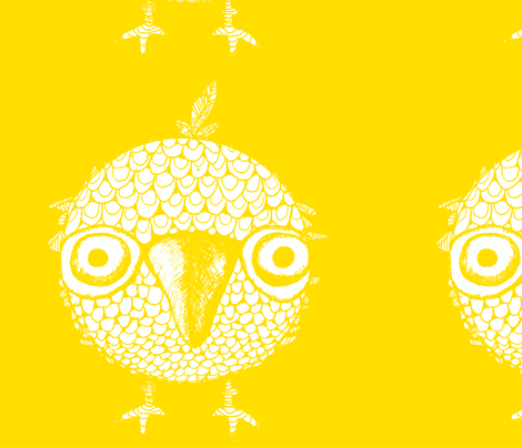 Yello Bird of Happiness fabric by artthatmoves on Spoonflower - custom fabric