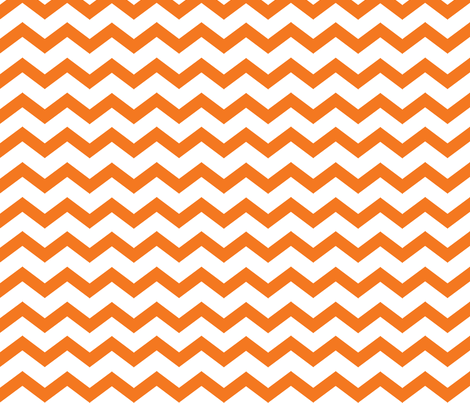 orange and white chevron  fabric by beary_organics on Spoonflower - custom fabric