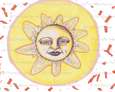 Sunburst Handdrawn Pattern