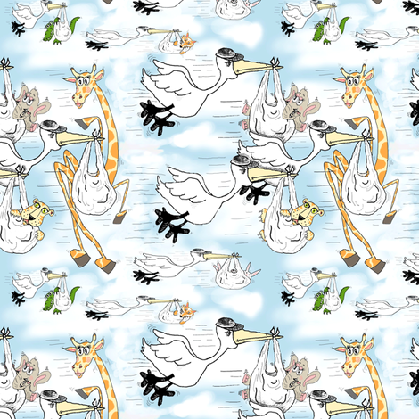 Special Delivery fabric by amy_g on Spoonflower - custom fabric