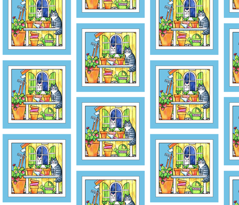 The Garden Shed 6-inch Square fabric by susanfaye on Spoonflower - custom fabric