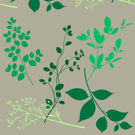 leaves taupe fabric by paragonstudios on Spoonflower - custom fabric