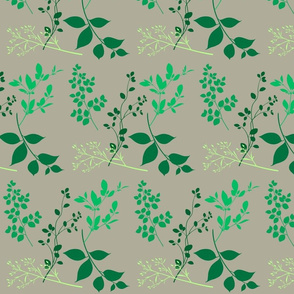 leaves taupe
