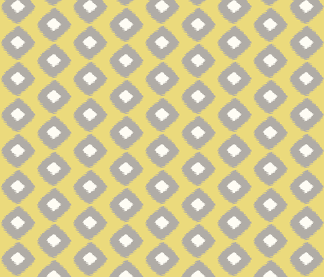 Ikat Trellis Citron fabric by lulabelle on Spoonflower - custom fabric