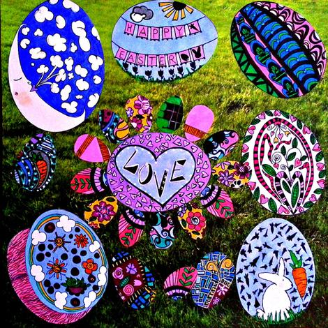 Egg Hunt fabric by 3montanachicks on Spoonflower - custom fabric