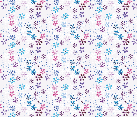 Watercolor flowers fabric by anastasiia-ku on Spoonflower - custom fabric