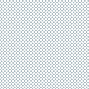 Blue and Gray Tweed Polka Dots