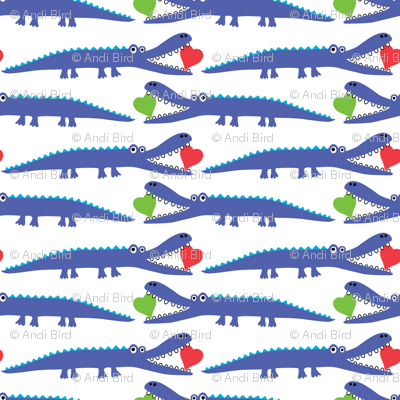 alligator love blue - large