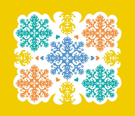 hawaiian quilt  - fat quarter fabric by andibird on Spoonflower - custom fabric