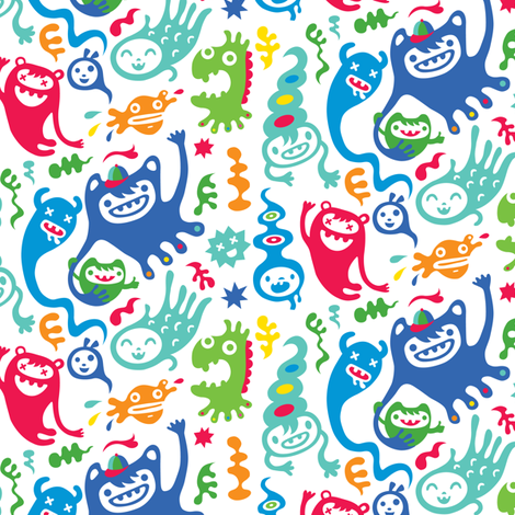 monster club fabric by andibird on Spoonflower - custom fabric