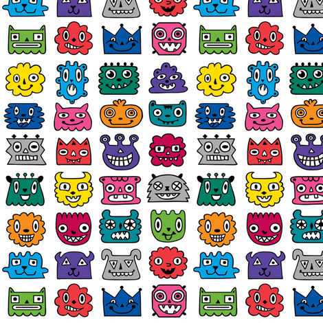 monster mash fabric by andibird on Spoonflower - custom fabric