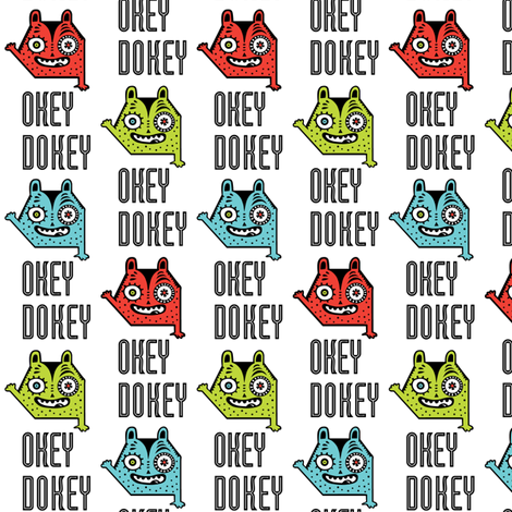 okey dokey monster fabric by andibird on Spoonflower - custom fabric