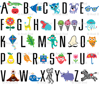 sweet alphabet pattern