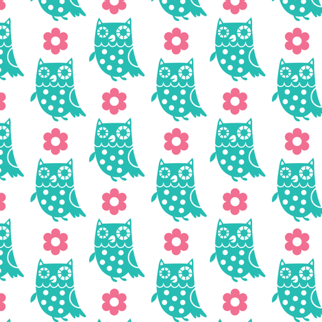 sweet owl fabric by andibird on Spoonflower - custom fabric