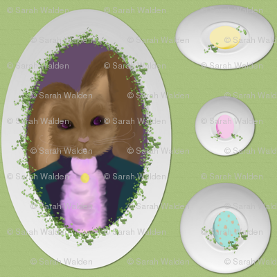 Peter Cottontail's Egg Plates