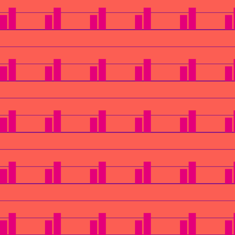 Pink Bar Chart for Erin fabric by candyjoyce on Spoonflower - custom fabric