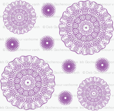 ruffled spirals in lavender