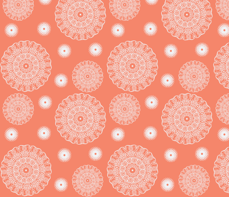 ruffled spirals in peach-ch fabric by dsa_designs on Spoonflower - custom fabric