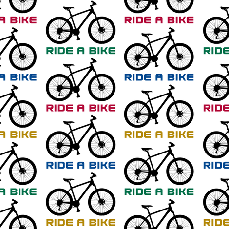 Ride a Bike Two fabric by andibird on Spoonflower - custom fabric