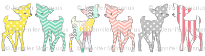 Peachy patterned Deers