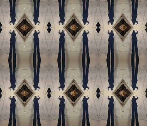 Shadow Diamonds fabric by relative_of_otis on Spoonflower - custom fabric