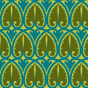 Art Nouveau21-blue/green