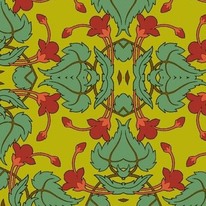 Art Nouveau40-green/red