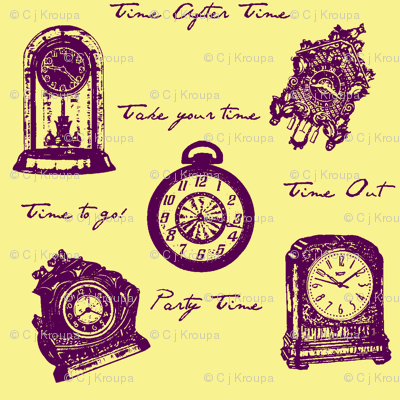 Time Clocks (purple/gold)